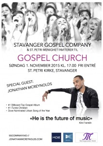Gospel Church 1. nov plakat